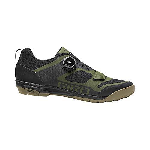 Giro Ventana - Zapatillas de Ciclismo para Hombre, Hombre, Zapatillas para Bicicleta eléctrica, MTB Trail Touring, Oliva-Negro, 43 EU