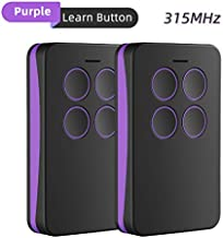 Refoss Garage Door Remote Control, Purple Learn Button Compatible with Chamberlain LiftMaster Craftsman(2 Pack) …