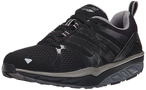 MBT Leasha Trail Lace Up, Zapatillas de Deporte Exterior Mujer, Negro (Black/Steel/Silver), 37 EU