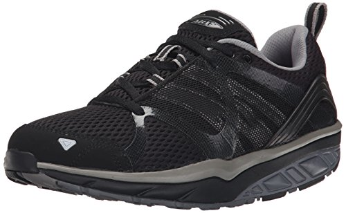 MBT Leasha Trail Lace Up, Zapatillas de Deporte Exterior para Mujer, Negro (Black/Steel/Silver), 41 EU