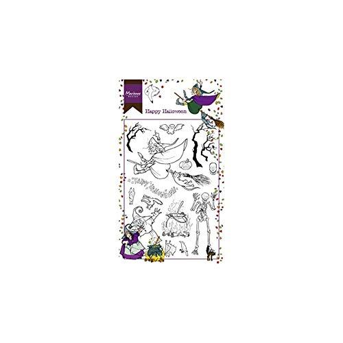 Marianne Design Clear Stamps, Happy Halloween, per Progetti Creativi con i Timbri, 10,5 x 18,5 cm