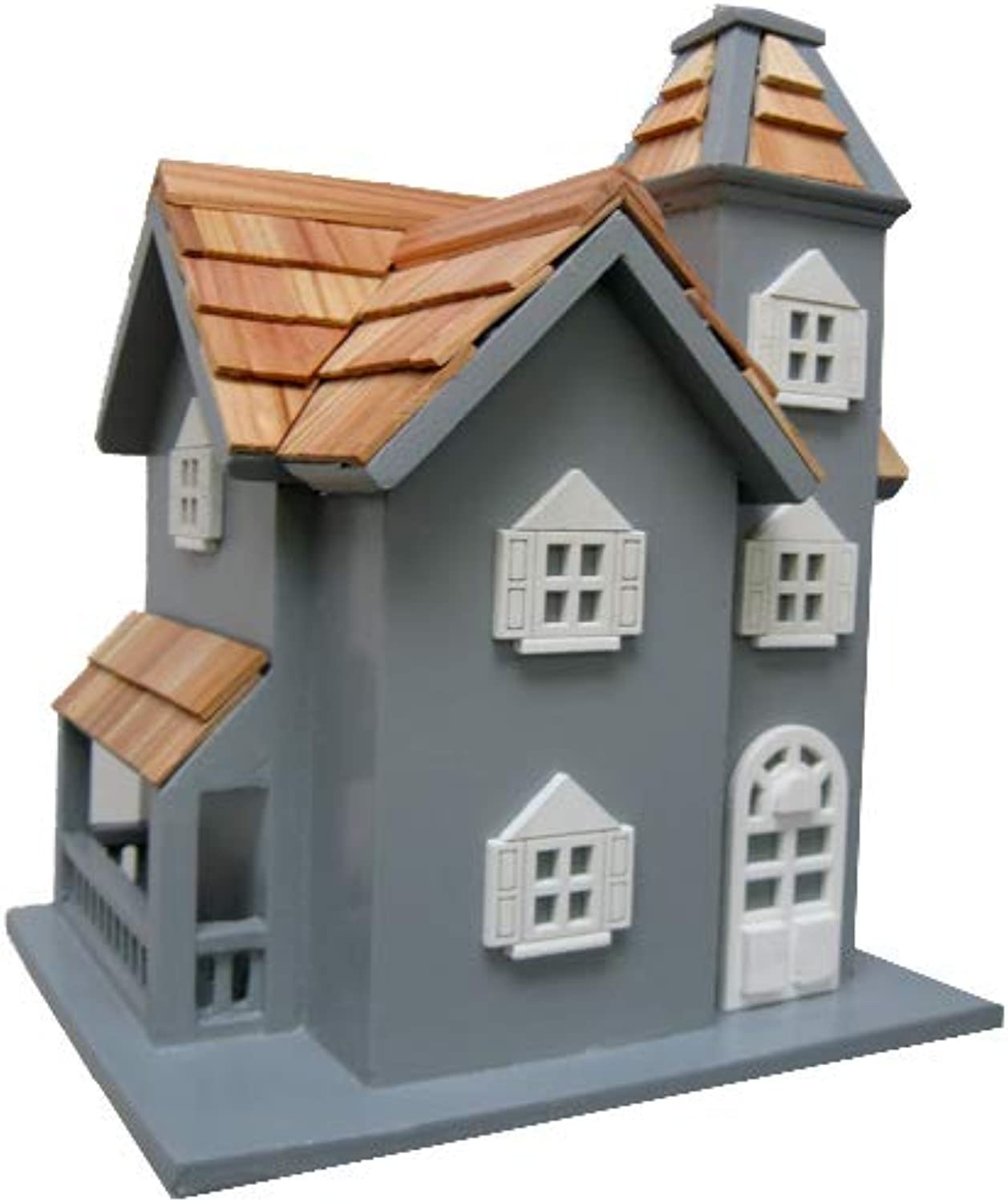 Leisure Traders Little Manor Mounted Bird House  bluee
