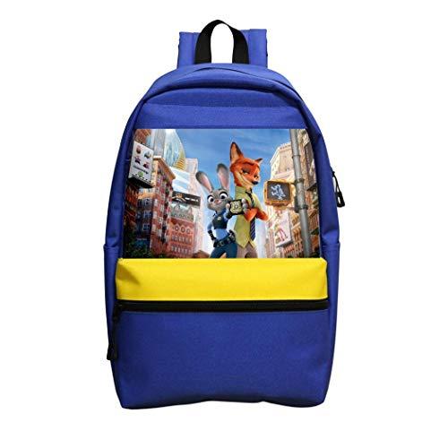 Zoot-opia Mädchen-Rucksack, Jungen, Schultertasche, Schule, Laptop, Rucksack, Kinder, Erwachsene, Outdoor, blau, Einheitsgröße