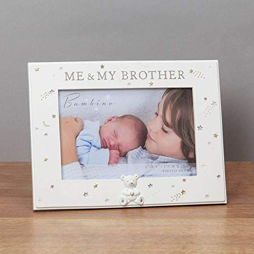 "Widdop Bambino Bilderrahmen, Kunstharz, 15 x 10 cm, Aufschrift ""Me and My Brother"""