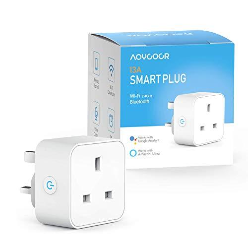 Smart Plug Alexa Plugs, Aoycocr Smart Socket with WiFi & Bluetooth, Works...