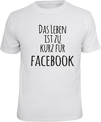 LOBO NEGRO Original Design, T-Shirt: Das Leben ist zu kurz für Facebook -L