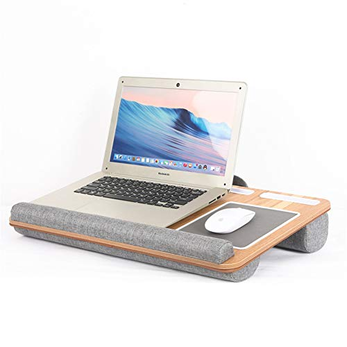 Lap Desk - Fits Up To 17 Inches Laptop, Built in Wrist Pad for Notebook, Tablet, Laptop Stand with Tablet, Pen & Phone Holder,A