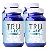 TRU NIAGEN Nicotinamide Riboside NAD + Suplemento para la reducción del cansancio y la fatiga, fórmula NR patentada más eficiente que NMN, 300 mg por dosis 90 días (12 meses / 4 frasco)