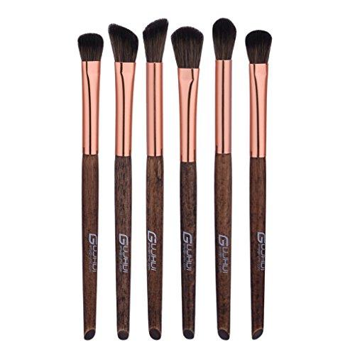 MagiDeal Set 6pcs Brosse de Maquillage des Yeux Fixation pour la Fondation des Teintes Anticernes Eyeliner Fard à Joux Ombre aux Paupières Pinceaux Cosmétiques