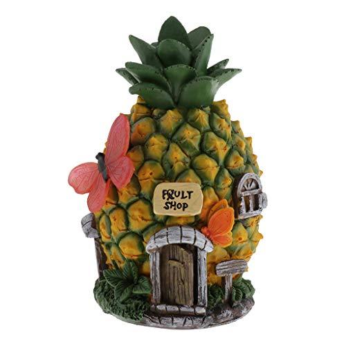 Amuzocity Solar LED Dekorative Licht Cartoon Design Yard Ourdoor Garten Ornament Licht - Ananas