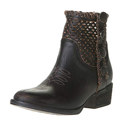 Corral Boots Womens Cut Out Concho Bootie 10.5 Black