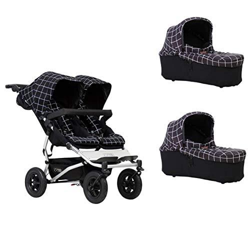 Mountain Buggy duet Buggy V3 - Silla de paseo con asiento doble y 2 sillitas
