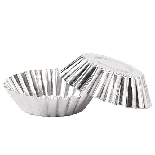 DUORUI 12 x Eiertörtchen-Form, Aluminium, wiederverwendbar, für Cupcakes, Muffins, Backform, Backform, DIY, Küchenwerkzeug