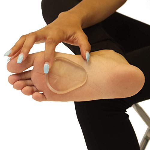 Premium Gel Ball of Foot Cushions - Reusable Clear Gel Metatarsal Pads - Foot Pain Relief - 1/8 Inch - 2 Pair