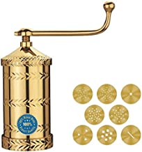Hatimi's TRIDEV Branded Pure Brass Sev Sancha Machine with Free 6 Different Jali for making different types of Sevaiya, Se...