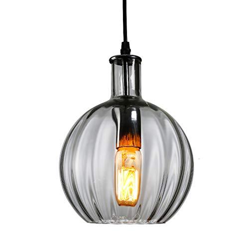 Colgante de luz de cristal E27, diseño único de cabeza de restaurante, bar, café, tienda, ropa, lámpara