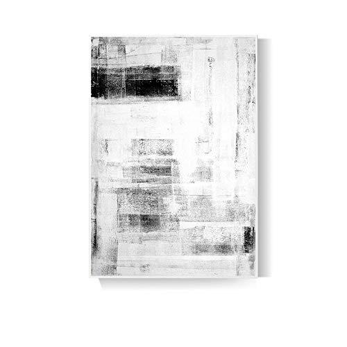 XUNZHAOYH Peinture À l'huile sur Toile,Simple Blanc Bel Art Rayé,100% Peinture À l'huile Peinte À La Main sur La Toile Texture Palette Couteau Peintures Moderne Décor À La Maison Mur Art Peinture Col