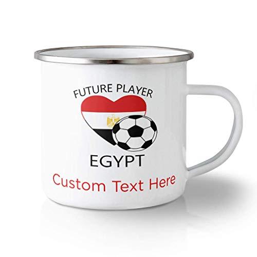 N\A Taza de Viaje irrompible Personalizada 10 onzas Futuro Jugador de fútbol Egipto Taza de té de Aluminio Texto Personalizado aquí
