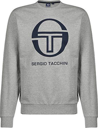 Sergio Tacchini Sweater Herren CIAO 038027 Grey Melange Navy, Größe:S