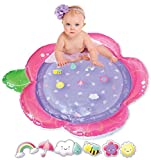 Tummy Time Baby Water Mat | Baby Toddler Girl Inflatable Play Mat | Floating Tummy Time Toys | Pink Tummy Time Baby Water Mat | 2021 Girl Design | XL Infant and Toddler Toy Playmat 6 9 Months