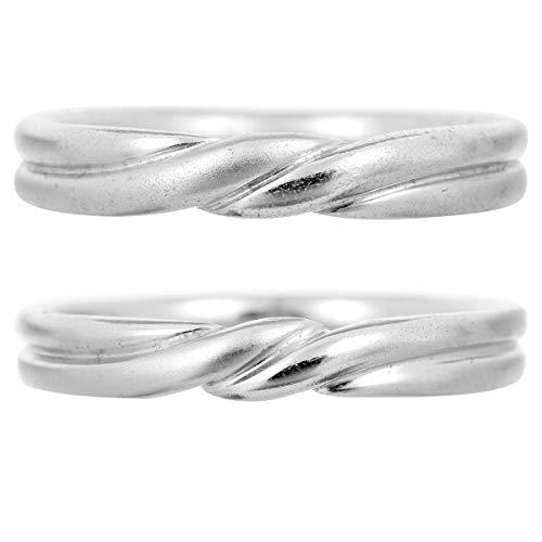 [ココカル]cococaru ペアリング 2本セット K10 ホワイトゴールド 結婚指輪 日本製 (レディースサイズ19号 メンズサイズ11号)