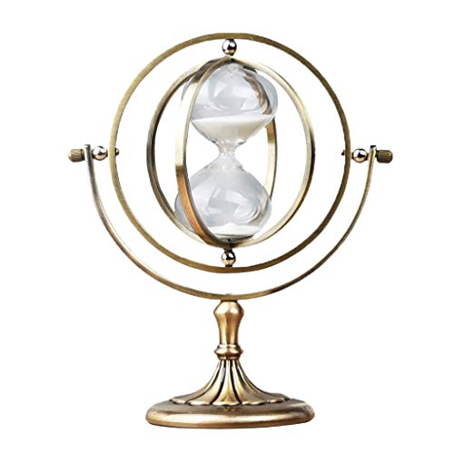PanyFDD zandloper met draaiknop, zandloper, timer, cadeau vintage uit brons, decoratie, handwerk, stopwatch, cadeau