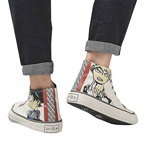 KroY PecoeD Zapatillas de deporte My Hero Academia, zapatillas de lona de cosplay de anime Zapatillas deportivas planas unisex altas para niños y niñas, hombres y mujeres(39 Style 24)