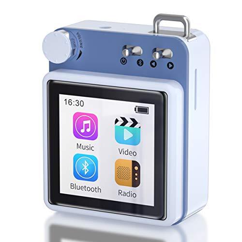 Lecteur MP3 MYMAHDI, Lecteur Audio HiFi sans Perte de 40 Go avec Bluetooth 5.0 et Haut-Parleur extérieur, Radio FM, enregistreur Vocal , Prend en Charge jusqu'à 128 Go