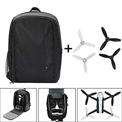 88AMZ Outdoor Backpack for Parrot Bebop 2 Power FPV Drone, Laptop, Cushioned Back Support and Adjustable Straps, Customized-cut Bag for Parrot Bebop 2 Power FPV Drone and Accessories (A)