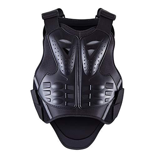 Motorrad-Körper-Schutzjacken Motocross Rennbekleidung Anzug Moto REIT Protektoren Weste Jacken (Color : Black, Size : L)