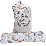 Mussole - Manta de muselina para bebé de algodón de bambú, 120 x 120 cm...