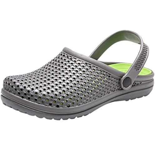 Dorical Unisex sandalen / strandschuhe mule slippers wasserschuhe badeschuhe flach aqua slippers non slip 9 uk z016-weizen