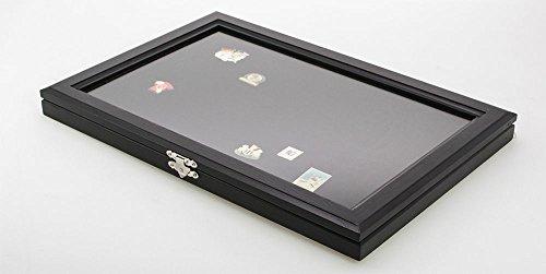 Vitrina de madera para 100 pines, color negro, número de modelo 5810