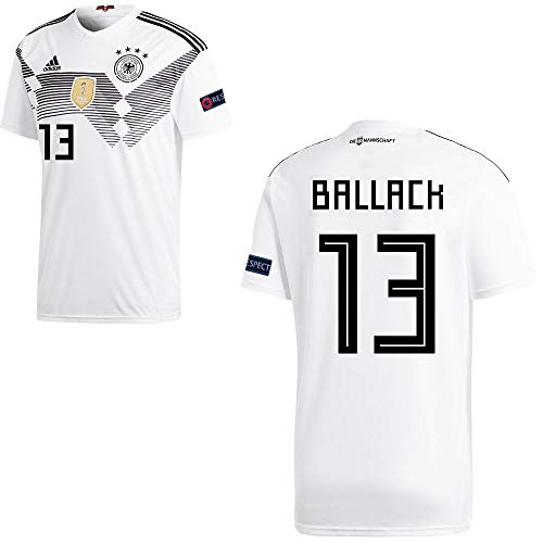 adidas Fußball DFB Deutschland Home Trikot WM 2018 Herren Ballack 13 mit Respekt Logo Gr XL