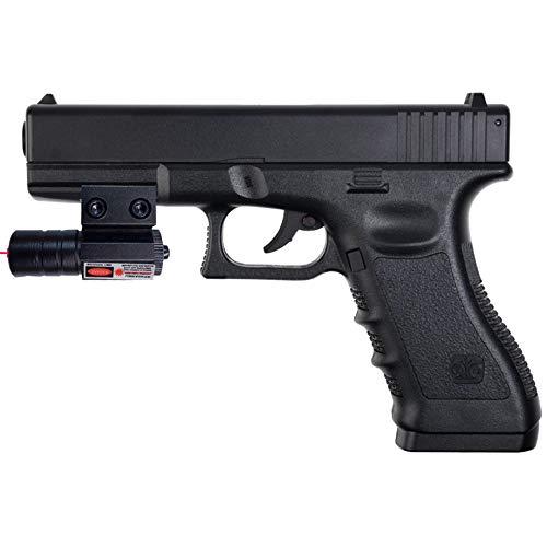 MK1 Stinger G17 LÁSER | Pack Pistola de CO2 con láser Tipo G17 - Arma de Aire comprimido (CO2) y balines BB's de Acero Calibre 4,5mm + láser