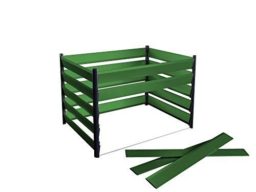Komposter aus Aluminium 150x110cm mit optimalen Verottungsprozess für den Garten - einfaches Stecksystem & besonders stabile Konstruktion - 15 Jahre Garantie - direkt vom Hersteller - Made in Austria