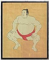 日本の相撲取りレスリングキャンバスプリント絵画日本伝統芸術ポスタークラシックヴィンテージウォールアート写真家の装飾40x60cmフレームなし