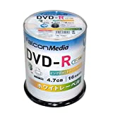 FalconMedia 1回記録(データ)用 DVD-R BE032(片面1層/1-16倍速/100枚)