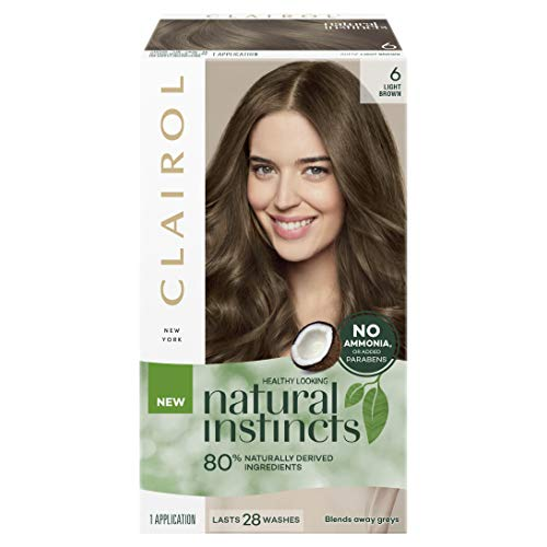 Clairol Natural Instincts Semi-Permanant Hair Colour, 6 Light Brown, 1 count