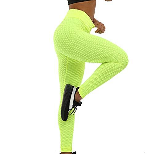 LGFSG Yogahosen S-XXL Yogahose 6 Farben Frauen Sexy Anti-Cellulite Compression Leggings Schlank, gelb, XL