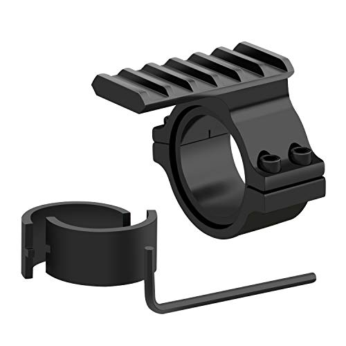 Beileshi 1-Inch Tactical Light Barrel Scope Mount Picatinny Scope Ring Adaptor with Picatinny Weaver Universal Rail