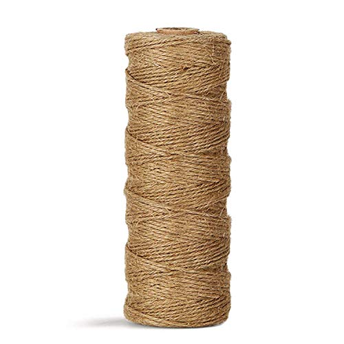 Natural Heavy Duty Twine for Crafts Brown Cat Scratch Post Bundling Vivifying 50 Feet 8mm Jute Rope