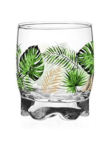 Sables & Reflets 6 sapglazen - waterglazen - Sodagglazen - Tropische collectie - 250 ml