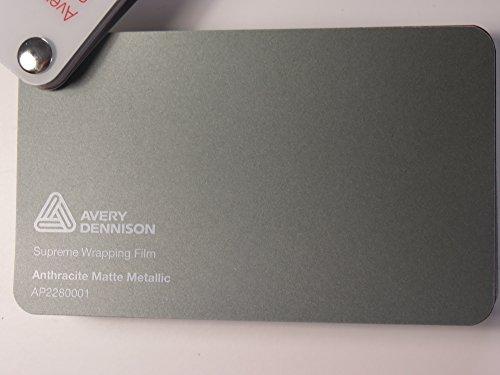 (26,58€/m2) Avery Supreme Wrapping Film Serie Anthrazit Matt Metallic gegossene Autofolie 200 x 152 cm Zuschnitt