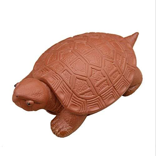 BXU-BG Estatuilla de estatuilla de la estatuilla, creativa linda estatua de la tortuga, arena morada, animal, decoración del hogar, decoración de tortuga, estatua de regalo