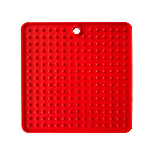 Jinjin Dog Lick Pad Dog Washing Distraction Device Pet Lick Food Mat for Dogs Cats Slow Feeder Pet Treats Mats Super Strong Suction Cups 18.5X18.5Cm