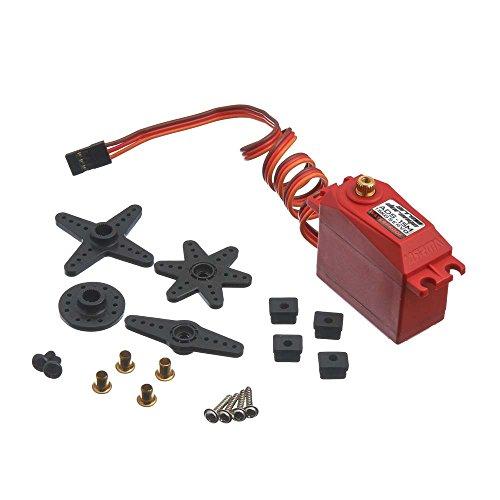 ARRMA ADS-15M V2  AR390139 Ads-15M V2 Metal Gear Waterproof Steering Servo (Includes Servo Horns & Hardware), Red, 15 kg