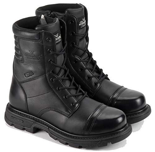 Thorogood Men's 8' Side Zip Jump Boot Gen-flex,Black,9...