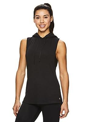 Nicole Miller Active Women's Mesh Hooded Racerback Workout Tank Top - Sleeveless Fitness Shirt