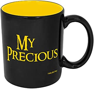 Funny Guy Mugs My Precious Ceramic Coffee Mug, Black/Yellow, 11-Ounce